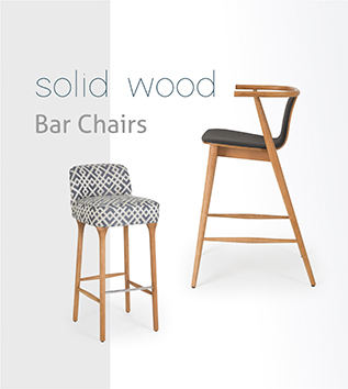 sandalyeci contract furniture solid wood bar chairs